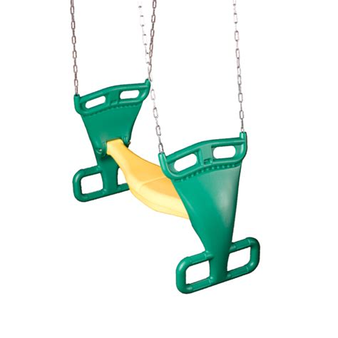 gliders for swing sets shop swing n slide 2 for fun green and yellow glider at