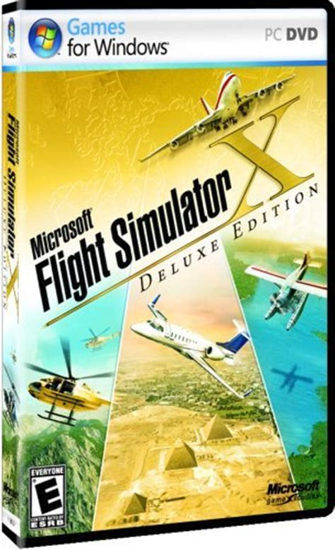 Cd Microsoft Flight Simulator X cd dvd version microsoft flight simulator x deluxe dvd buy read new reviews