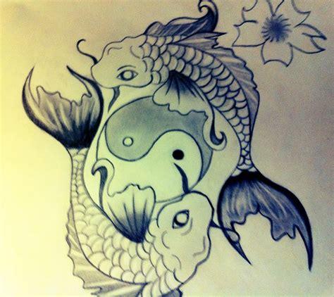 yin yang rose tattoo koi fish tattoos askideas