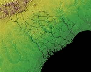 south carolina topographical climate and plant maps