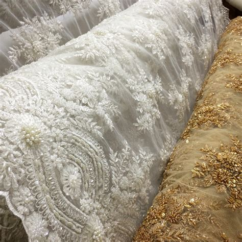new beaded bridal laces fabric outlet sf