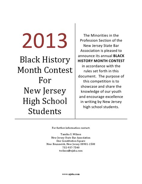 Black History Month Essays by Pretty Business Television Njsba Black History Month Essay Contest Pr Ogram And Realize The