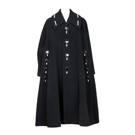 wool swing coat yohji yamamoto black wool swing coat at 1stdibs