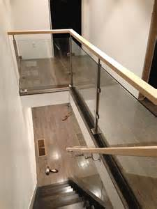 banister for open stairs glass railing glass wall