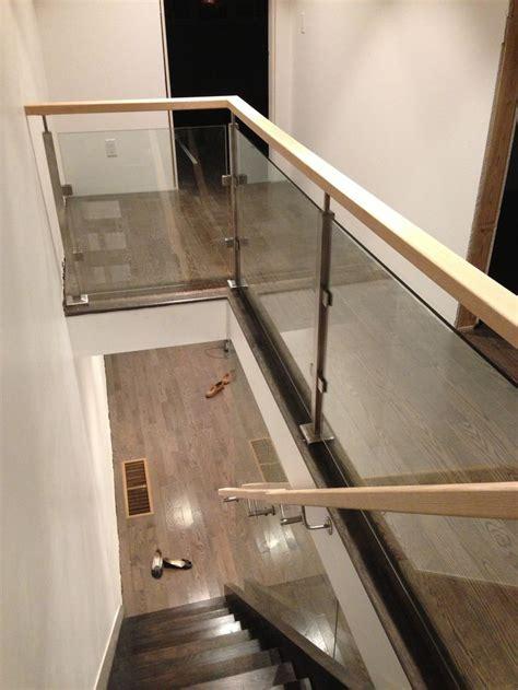 glass landing banister 25 best glass railing ideas on pinterest