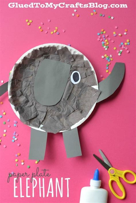 Paper Plate Elephant Craft - 25 best ideas about elephant crafts on zoo