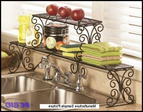 2 tier the sink shelf kitchen 2 tier scrolled black the sink shelf