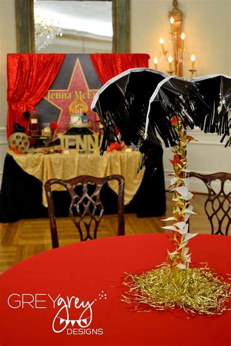 party themes red carpet red red carpet hollywood golden statue birthday party