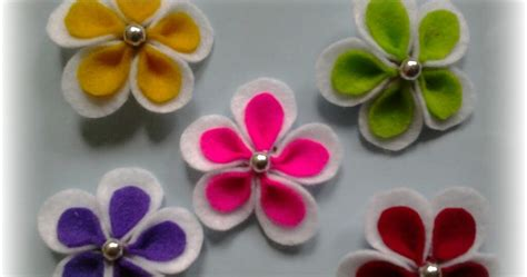 Bros Bunga Putih Ungu nenshi colection bros bunga flanel putih