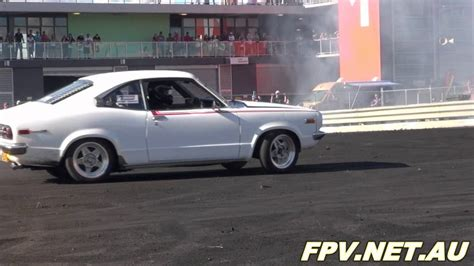 mazda rx3 coupe mazda rx3 coupe 13b turbo hedayk burnout and destroys the