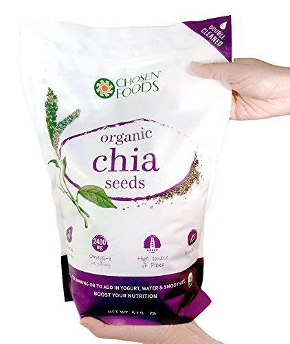 Chia Seeds Chosen Foods chosen foods non gmo verified chia seeds bulk 5 pound
