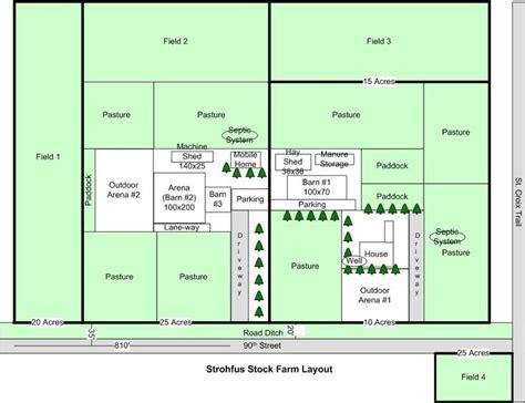 17 Best images about Farm layout on Pinterest   Gardens ... 1 Acre Horse Farm Layout