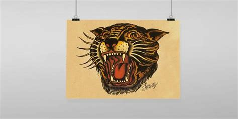 sailor jerry home decor tiger sailor jerry vintage reproduction wall