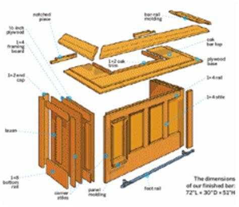 Small Home Bar Plans Free Specs For Building A Home Bar Home Bar Design