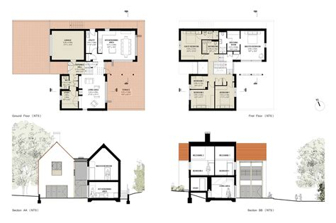 house design blueprints modern family house plans 4721