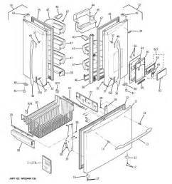 Sears Samsung French Door Refrigerator - ge bottom mount refrigerator parts model pfsf5njwaww sears partsdirect