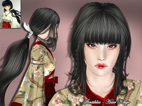 sims 4 anime hair sintikliasims sintiklia female hair kikyo