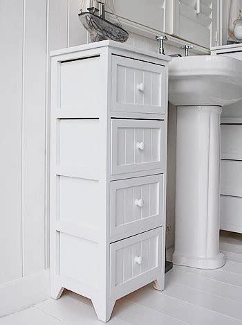 Freestanding Bathroom Cabinet   White bathroom Storage.