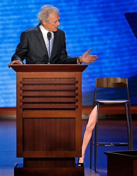 Clint Eastwood Talking To Chair by Talk To The Leg Clint Eastwood S Empty Chair Speech