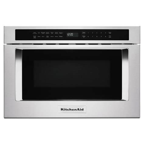 kitchenaid 24 microwave drawer shop kitchenaid 1 2 cu ft microwave drawer stainless