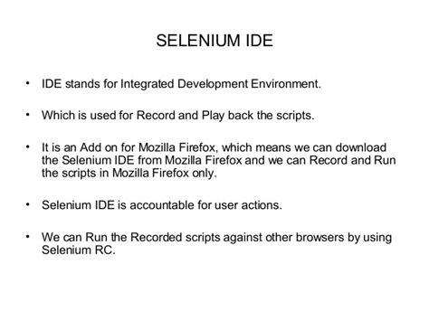 selenium tutorial powerpoint slides selenium ppt