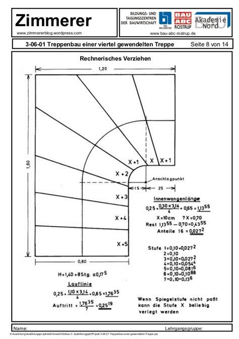 technische zeichnung treppe treppenbau einer gewendelten treppe