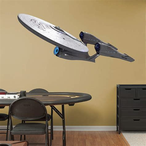 trek wall mural u s s enterprise ncc 1701 trek into darkness wall
