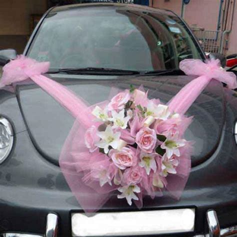 wedding car with flowers wedding car flowers