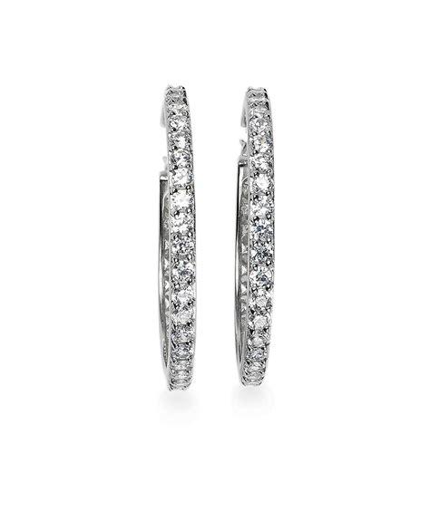 Set Bros Zircon brothers cubic zirconia hoop earrings in metallic lyst