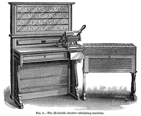 Hollerith Desk by Hollerith Tabulator 1890 Photograph By Granger
