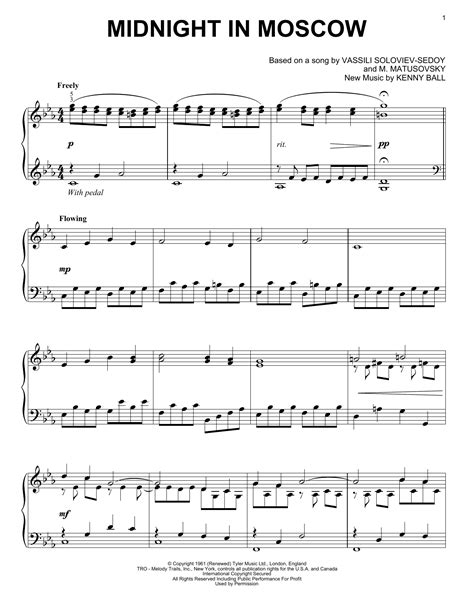 Midnight In Moscow Sheet Music Direct