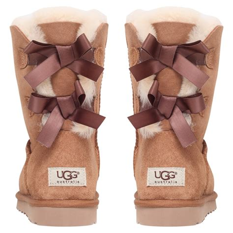ugg bailey bow boots in brown lyst