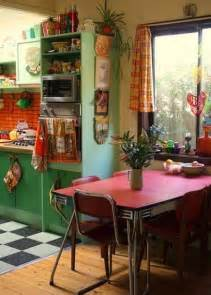 1950s Home Decorating Ideas Kitchen Vintage Kitchen With Small Space Also Rough Wood