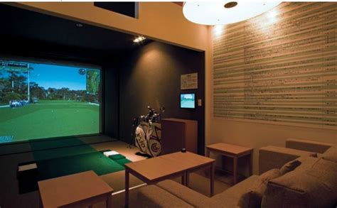 simulation room room decor simulator residential golf simulator room