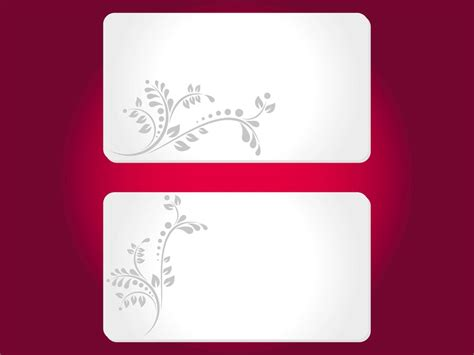 Floral Cards Templates Vector Art Graphics Freevector Com Templates For Cards