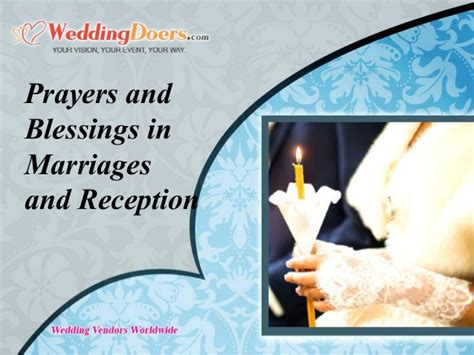 Wedding Blessing And Prayers by Prayers And Blessings In Marriages And Reception