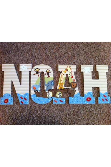 noah s up letter to noah s ark wooden letters baby nursery