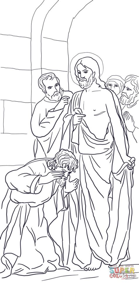 coloring page for doubting thomas jesus appears to thomas coloring online super coloring