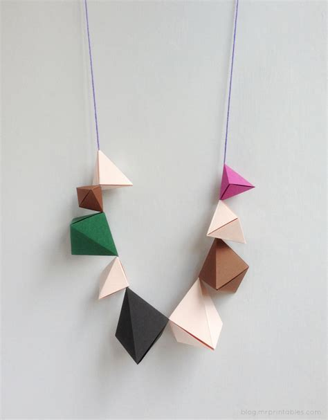 How To Make A Necklace With Paper - diy origami necklace tutorial kidsdinge