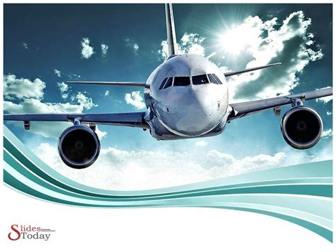 Aerospace Powerpoint Template Space And Aircraft Airline Ppt Template