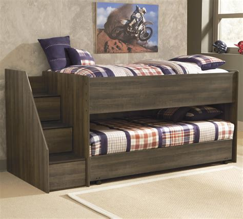 twin low loft bed signature design by ashley juararo twin loft bed w left