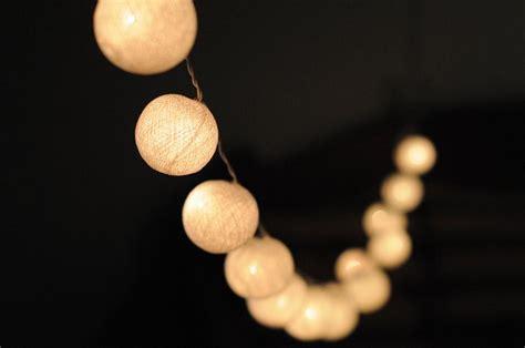 Sisal Cotton Ball Lantern String Lights White Cotton String Lights