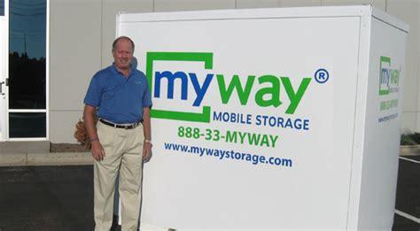 myway mobile storage portable self storage franchise mobile storage franchise