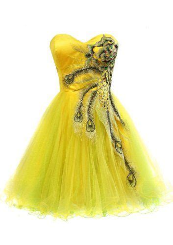 Metallic Peacock Embroidered Holiday Party Prom Dress Junior Plus Size, XS, Yellow PacificPlex
