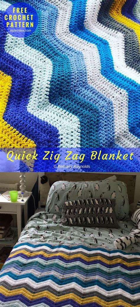written zig zag crochet pattern quick zig zag crochet blanket free pattern diy
