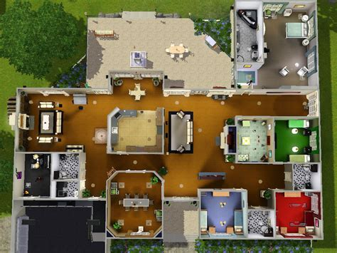 sims 3 5 bedroom house floor plan sims 3 teenage bedrooms mod the sims stately ranch