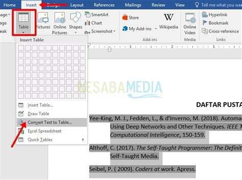 cara membuat daftar pustaka otomatis di word 100 rajin cara membuat daftar pustaka otomatis di word 100 rajin