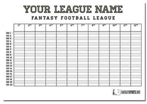football draft board template 2014 football auction strategy kit part one