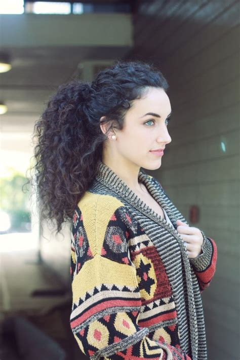 hairstyles for curly hair in a ponytail 1000 ideas about curly hair ponytail on pinterest