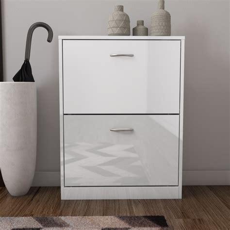 shoe storage perth torino 2 drawer shoe storage cabinet in white high gloss